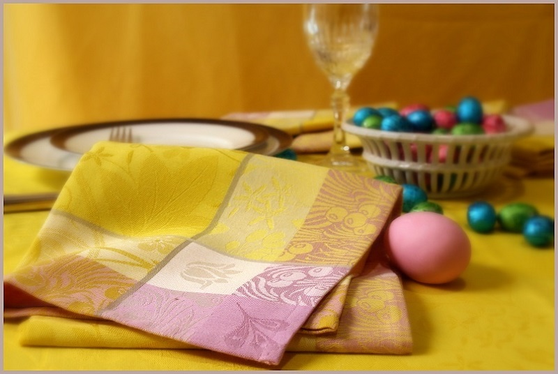 Colorful dressed table