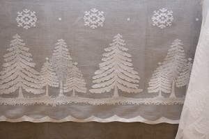 "rectangular tablecloth ""Fiocchi di neve"" white cotton gauze"