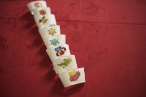 napkin rings linen hand embroidered