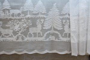 """grande tovaglia """"Christmas"""", garza di cotone bianca"""