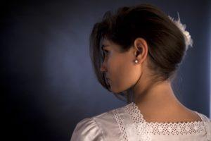 """Camicia da notte """"Chiara"""": particolare del dietro"""