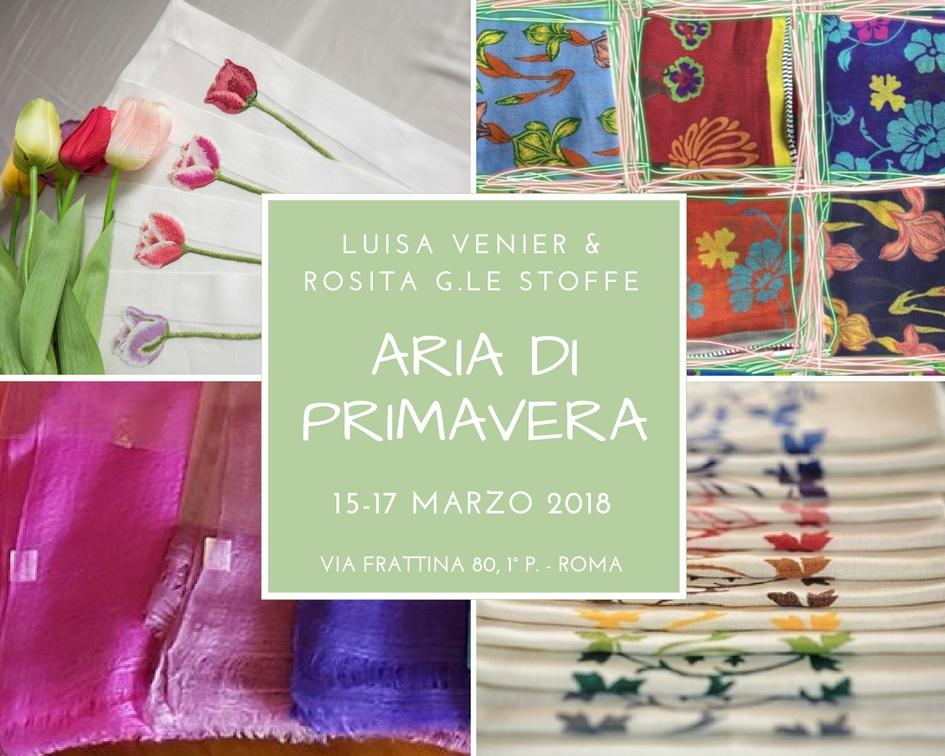 Dal 15 al 17 marzo 2018 Luisa Venier e Rosita G. le stoffe presentano le novità della stagione primavera estate